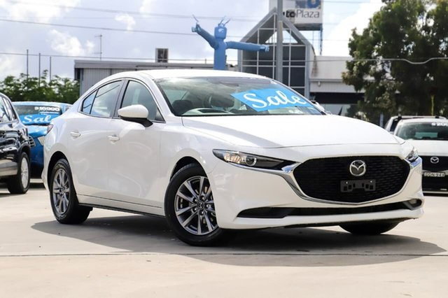 Used Mazda 3 BP2S7A G20 SKYACTIV-Drive Pure Kirrawee, 2019 Mazda 3 BP2S7A G20 SKYACTIV-Drive Pure Snowflake White 6 Speed Sports Automatic Sedan