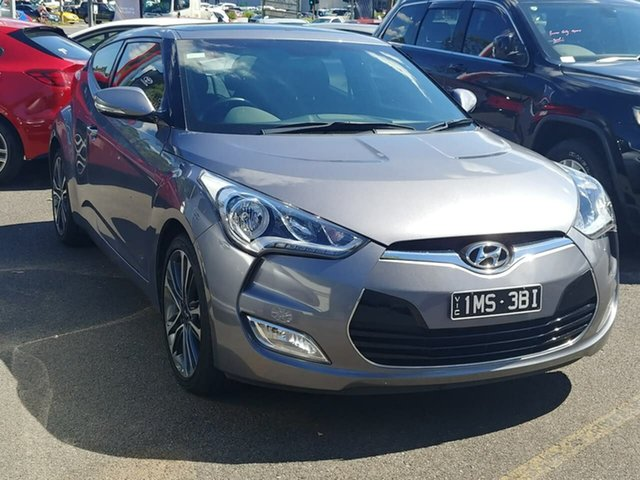Pre-Owned Hyundai Veloster FS5 Series II Coupe D-CT Ferntree Gully, 2017 Hyundai Veloster FS5 Series II Coupe D-CT Grey 6 Speed Sports Automatic Dual Clutch Hatchback