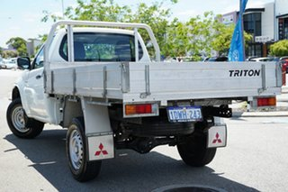 2012 Mitsubishi Triton MN MY12 GL 4x2 White 5 Speed Manual Cab Chassis.