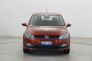 2016 Volkswagen Polo 6R MY17 81TSI DSG Comfortline Red 7 Speed Sports Automatic Dual Clutch.