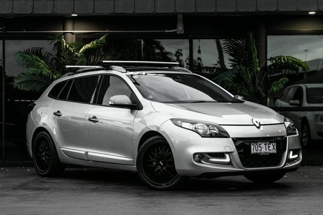 Used Renault Megane III K95 MY13 GT-Line Sportwagon Bowen Hills, 2013 Renault Megane III K95 MY13 GT-Line Sportwagon Silver 6 Speed Constant Variable Wagon