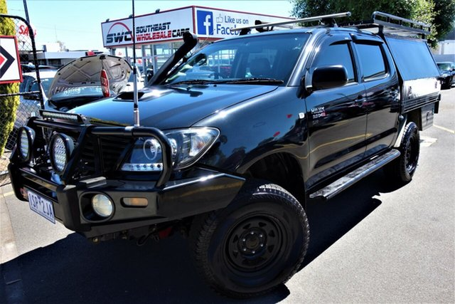 Used Toyota Hilux KUN26R MY08 SR Seaford, 2008 Toyota Hilux KUN26R MY08 SR Black 5 Speed Manual Utility