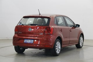 2016 Volkswagen Polo 6R MY17 81TSI DSG Comfortline Red 7 Speed Sports Automatic Dual Clutch