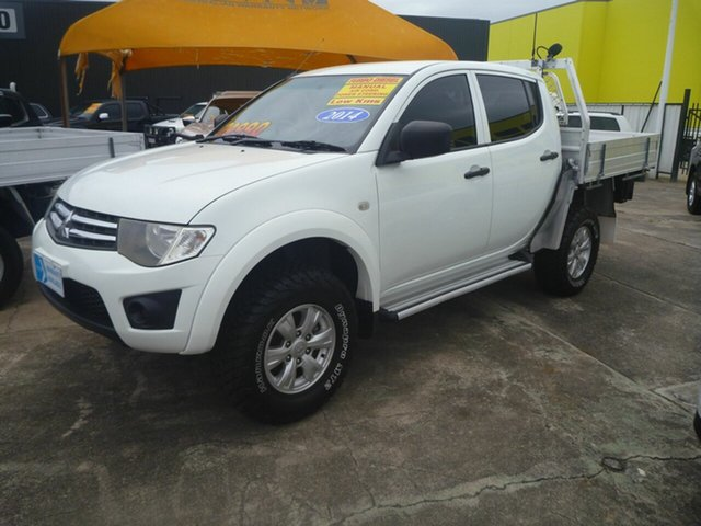 Used Mitsubishi Triton MN MY15 GLX Double Cab Morayfield, 2014 Mitsubishi Triton MN MY15 GLX Double Cab White 5 Speed Manual Utility