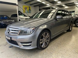 2013 Mercedes-Benz C-Class W204 C250 CDI Avantgarde Palladium Silver Sports Automatic Wagon.