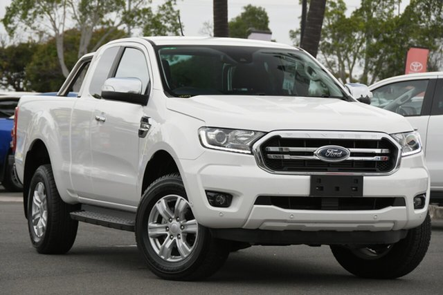 Used Ford Ranger PX MkIII 2019.00MY XLT North Lakes, 2019 Ford Ranger PX MkIII 2019.00MY XLT White 6 Speed Sports Automatic Super Cab Pick Up