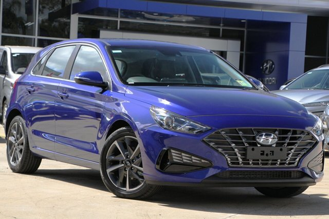 New Hyundai i30 PD.V4 MY21 Elite Moorooka, 2020 Hyundai i30 PD.V4 MY21 Elite Intense Blue 6 Speed Sports Automatic Hatchback