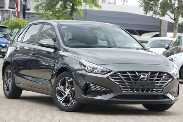 New Hyundai i30 PD.V4 MY21 Nunawading, 2021 Hyundai i30 PD.V4 MY21 Iron Grey 6 Speed Sports Automatic Hatchback