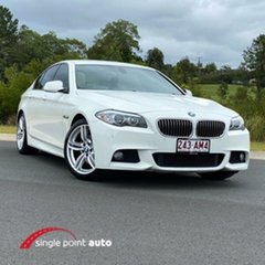 2011 BMW 5 Series F10 520d Steptronic White 8 Speed Sports Automatic Sedan.