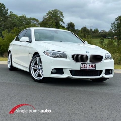 Used BMW 5 Series F10 520d Steptronic Chevallum, 2011 BMW 5 Series F10 520d Steptronic White 8 Speed Sports Automatic Sedan
