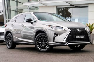 2017 Lexus RX GGL25R RX350 F Sport Silver, Chrome 8 Speed Sports Automatic Wagon.
