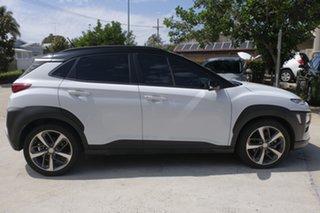 2017 Hyundai Kona OS MY18 Launch Edition D-CT AWD White 7 Speed Sports Automatic Dual Clutch Wagon.