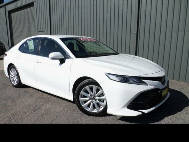 Used Toyota Camry ASV70R Ascent Wangaratta, 2018 Toyota Camry ASV70R Ascent Glacier White 6 Speed Automatic Sedan