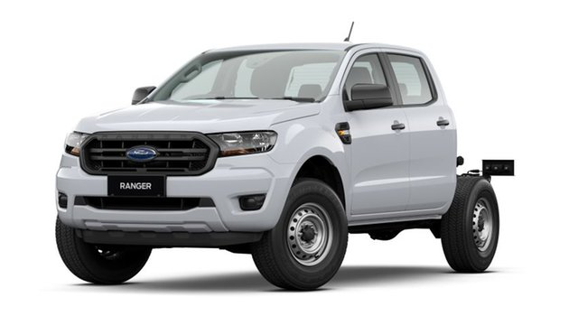 New Ford Ranger PX MkIII 2021.25MY XL Port Adelaide, 2020 Ford Ranger PX MkIII 2021.25MY XL Arctic White 6 Speed Sports Automatic Double Cab Chassis
