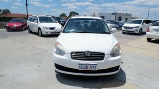 2008 Hyundai Accent MC MY07 S White 5 Speed Manual Sedan.