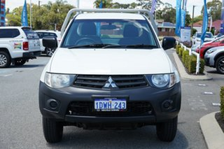 2012 Mitsubishi Triton MN MY12 GL 4x2 White 5 Speed Manual Cab Chassis