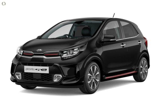 Demo Kia Picanto JA MY21 GT-Line Reynella, 2020 Kia Picanto JA MY21 GT-Line Black 4 Speed Automatic Hatchback