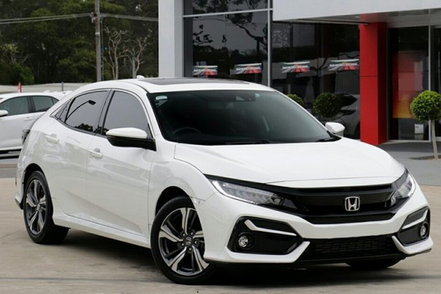New Honda Civic 10th Gen MY20 VTi-LX Hornsby, 2020 Honda Civic 10th Gen MY20 VTi-LX Platinum White 1 Speed Constant Variable Hatchback