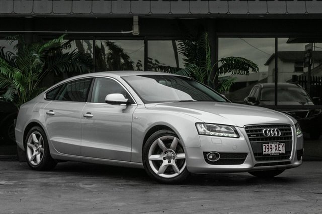 Used Audi A5 8T MY10 Sportback S Tronic Quattro Bowen Hills, 2009 Audi A5 8T MY10 Sportback S Tronic Quattro Silver 7 Speed Sports Automatic Dual Clutch