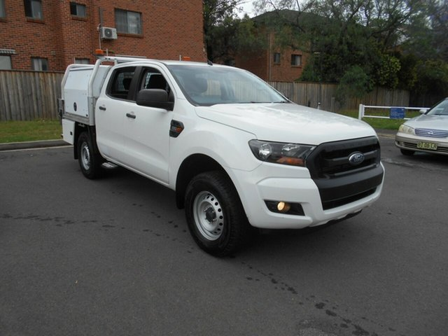 Used Ford Ranger PX MkII MY17 XL 2.2 Hi-Rider (4x2) Bankstown, 2016 Ford Ranger PX MkII MY17 XL 2.2 Hi-Rider (4x2) White 6 Speed Automatic Crew Cab Chassis
