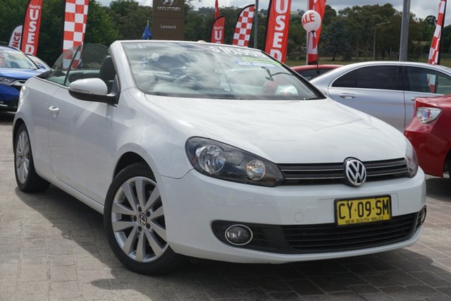 Used Volkswagen Golf VI MY12 118TSI DSG Phillip, 2011 Volkswagen Golf VI MY12 118TSI DSG White 7 Speed Sports Automatic Dual Clutch Cabriolet