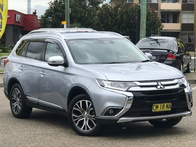Used Mitsubishi Outlander ZK MY18 LS 2WD Safety Pack Liverpool, 2017 Mitsubishi Outlander ZK MY18 LS 2WD Safety Pack Silver 6 Speed Constant Variable Wagon