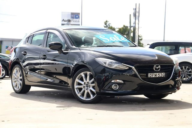 Used Mazda 3 BM5436 SP25 SKYACTIV-MT GT Kirrawee, 2016 Mazda 3 BM5436 SP25 SKYACTIV-MT GT Jet Black 6 Speed Manual Hatchback