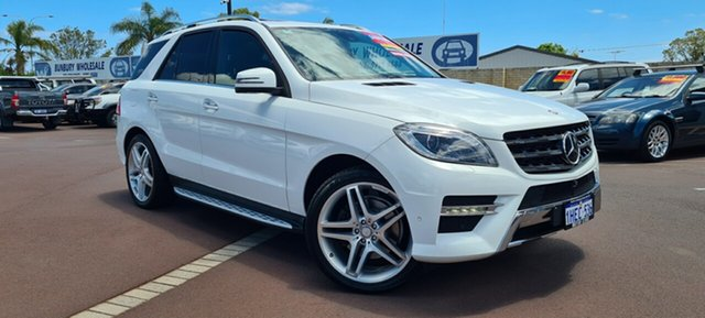 Used Mercedes-Benz M-Class W166 ML350 BlueTEC 7G-Tronic + East Bunbury, 2014 Mercedes-Benz M-Class W166 ML350 BlueTEC 7G-Tronic + White 7 Speed Sports Automatic Wagon