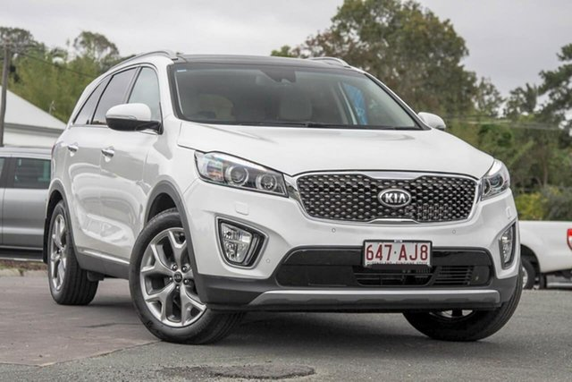 Used Kia Sorento UM MY16 Platinum AWD Gympie, 2016 Kia Sorento UM MY16 Platinum AWD Pearl White 6 Speed Sports Automatic Wagon