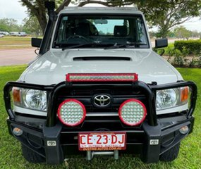 2016 Toyota Landcruiser VDJ79R Workmate White 5 Speed Manual Cab Chassis