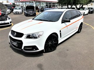 2015 Holden Commodore VF MY15 SS V Sportwagon Sandman White 6 Speed Sports Automatic Wagon.