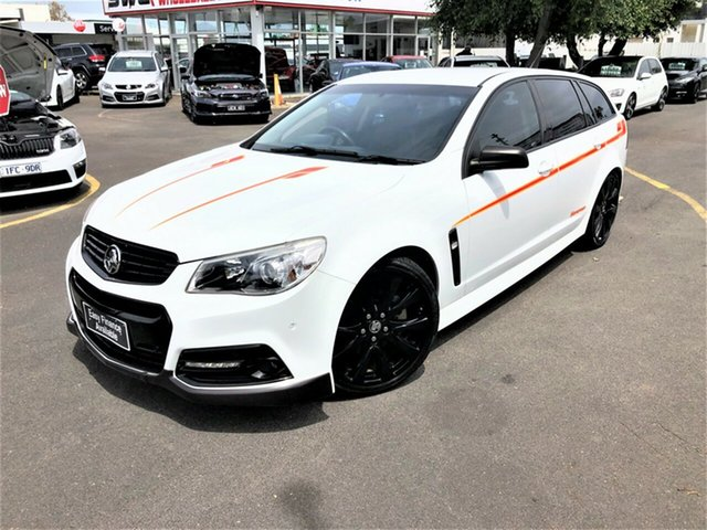 Used Holden Commodore VF MY15 SS V Sportwagon Sandman Seaford, 2015 Holden Commodore VF MY15 SS V Sportwagon Sandman White 6 Speed Sports Automatic Wagon