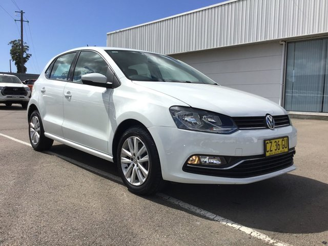 Used Volkswagen Polo 6R MY16 81TSI DSG Comfortline Cardiff, 2015 Volkswagen Polo 6R MY16 81TSI DSG Comfortline White 7 Speed Sports Automatic Dual Clutch