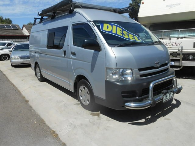 Used Toyota HiAce KDH201R MY10 LWB Broadview, 2009 Toyota HiAce KDH201R MY10 LWB Silver 5 Speed Manual Van