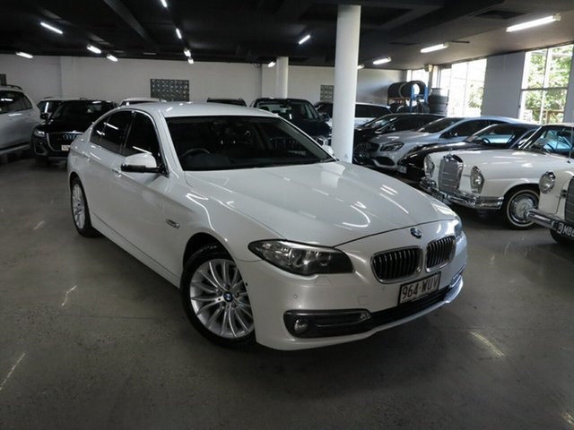 Used BMW 5 Series F10 LCI 520d Steptronic Luxury Line Albion, 2016 BMW 5 Series F10 LCI 520d Steptronic Luxury Line White 8 Speed Sports Automatic Sedan