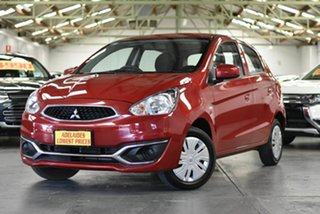 2018 Mitsubishi Mirage LA MY18 ES Red 5 Speed Manual Hatchback.