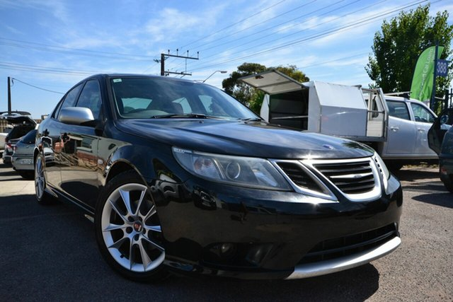 Used Saab 9-3 MY08 Black Turbo Blair Athol, 2008 Saab 9-3 MY08 Black Turbo Black 5 Speed Automatic Sedan
