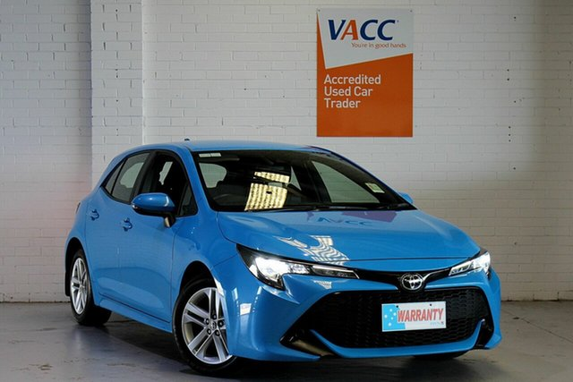 Used Toyota Corolla Mzea12R Ascent Sport Moorabbin, 2018 Toyota Corolla Mzea12R Ascent Sport Blue 10 Speed Constant Variable Hatchback