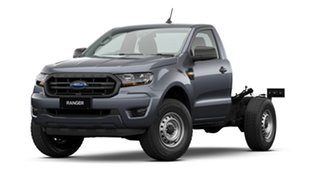 2020 Ford Ranger PX MkIII 2021.25MY XL Hi-Rider Grey 6 Speed Sports Automatic Single Cab Chassis.