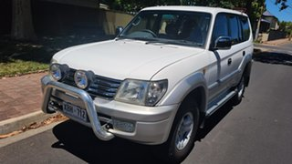 2001 Toyota Landcruiser Prado VZJ95R VX (4x4) White 4 Speed Automatic 4x4 Wagon