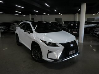 2015 Lexus RX GYL25R RX450h F Sport White 6 Speed Constant Variable Wagon Hybrid.