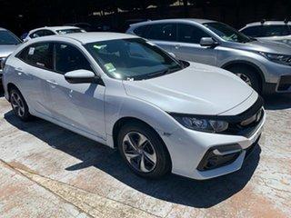 2020 Honda Civic 10th Gen MY20 VTi Platinum White 1 Speed Constant Variable Hatchback