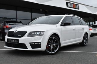 2016 Skoda Octavia NE MY16 RS DSG 162TSI White 6 Speed Sports Automatic Dual Clutch Wagon