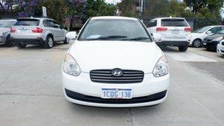 2007 Hyundai Accent MC MY07 S White 5 Speed Manual Sedan.