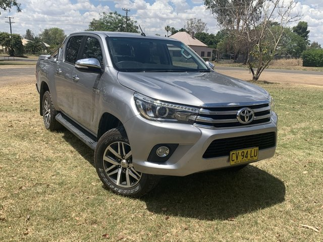 Used Toyota Hilux GUN126R SR5 Double Cab Moree, 2017 Toyota Hilux GUN126R SR5 Double Cab Silver Sky 6 Speed Sports Automatic Utility