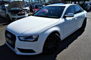 2012 Audi A4 B8 8K MY13 S Tronic Quattro White 7 Speed Sports Automatic Dual Clutch Sedan.