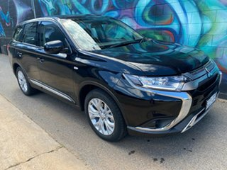 2020 Mitsubishi Outlander ZL MY21 ES AWD Black 6 Speed Constant Variable Wagon.