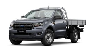 2020 Ford Ranger PX MkIII 2021.25MY XL Meteor Grey 6 Speed Manual Single Cab Chassis.