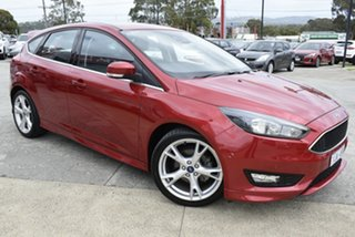 2017 Ford Focus LZ Titanium Red/Black 6 Speed Automatic Hatchback.