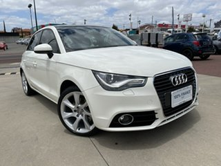 2013 Audi A1 8X MY13 Ambition S Tronic White 7 Speed Sports Automatic Dual Clutch Hatchback.